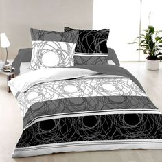 Elegance - Cotton SATEEN Bed Linen Set (Duvet Cover & Pillow Cases) Geometric Bedding, Duvet Cover Design, Bed Linen Sets, Linen Bedding, King Size, Comforters, Pillow Covers, Satin