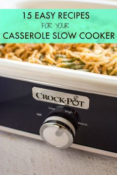 15 Easy Recipes for your Casserole Slow Cooker (Thanksgiving Meal Crockpot) Casserole Crock Recipes, Slow Cooker Casserole, Crockpot Dishes, Crock Pot Slow Cooker, Crock Pot Cooking, Casserole Dishes, Slow Cooker Recipes, Crockpot Recipes, Easy Recipes