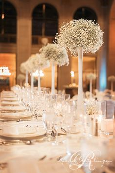 Weddings At One King West - Baby's Breath Is Back! - Wedding Decor Toronto Rachel A. Clingen Wedding & Event Design