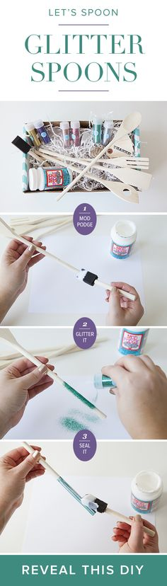 Glittered Spoons DIY by @SomethingTurquoise.com™#darbysmart