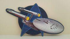 Star Trek USS Enterprise Embossed Metal Sign New Man Cave Garage  Office Women