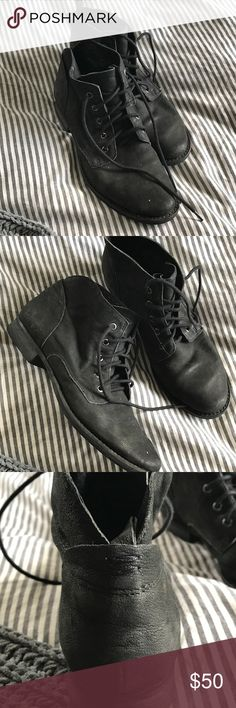 Steve Madden Boots Not even broken in...have like 100 pairs of black boots so they're just sitting in my closet Steve Madden Shoes Ankle Boots & Booties