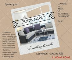 It's almost summer ! Spend your Vacation in Hong kong and Book my iLoveit apartment!