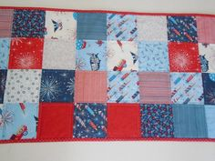 July 4th Quilted Table Runner 4th of July by ForgetMeNotQuilteds