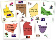 PRINTABLE cover sheet/divider page for notebooking about Australia - from Our Worldwide Classroom Geography Activities, Teaching Geography, World Geography, Australia School, Australia Map, Ecole Bilingue, Australia Day Celebrations, Family Day Care, Teachers Aide