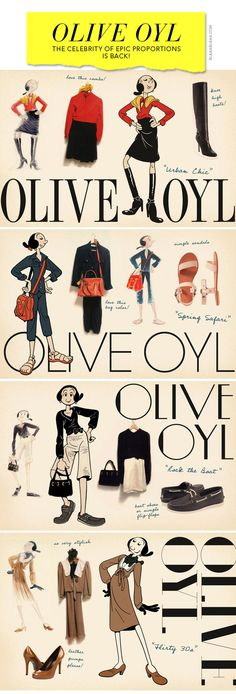 Ms. Olive Oyl is back!