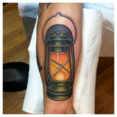 Lantern tattoo by Jason Reeder