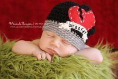 Heart Breaker Baby Boy Crochet Hat Beanie Newborn to by azek2000, $25.00