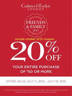 Pinned may 16th 30 off at yankee candle or online via promo free printable coupons crabtree evelyn coupons fandeluxe Choice Image