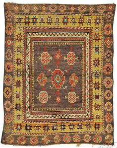 Lot 91. Konya Yatak, Central Anatolia, early 19th century, 6 ft. 2 in. x 4 ft. 9 in.