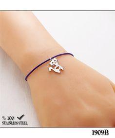 Axcesi 1909B Cat cord wristband-bracelet stainless steel by Axcesi