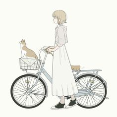 Ideas For Cats Art Illustration Style Cute Cartoon Wallpapers, Animes Wallpapers, Anime Art Girl, Manga Art, Cartoon Drawings, Cute Drawings, Character Art, Character Design, Pretty Art