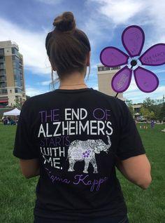Philanthropy Shirts Sigma Kappa Sorority at University of Nebraska Omaha Alzheimer's Walk, Walk To End Alzheimer's, Sigma Kappa Shirts, Sorority Shirts, Alzheimers Awareness, Breast Cancer Awareness, Alz Walk, Alzheimer's And Dementia, Dementia Care