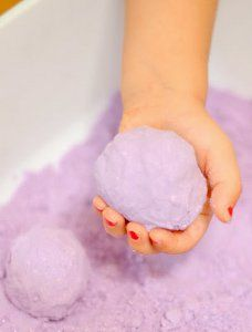 How to Make Calming Lavender Cloud Dough | AllFreeKidsCrafts.com