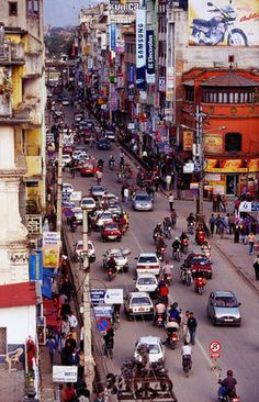 Kathmandu, Nepal. used to get off the tuk tuk at this intersection everyday ❤️