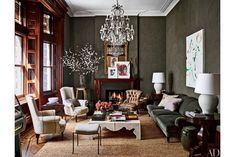 Jessica Chastain Apartment Architectural Digest   See inside Jessica Chastain's New York City apartment. Its rich history and recent redesign make it a true Victorian gem. #refinery29 http://www.refinery29.com/2016/09/122359/jessica-chastain-apartment-architectural-digest