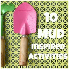 Roll Up Your Sleeves for 10 Mud-Inspired Sensory Activities Motor Activities, Sensory Activities, Craft Activities For Kids, Sensory Play, Crafts For Kids, Sensory Boxes, Sensory Garden, Spring Activities, Outdoor Activities