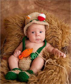 Nouveau bébé pêcheur conception du nouveau - né photographie Props Infant Costume Outfit Hat bretelles pantalon Shose avec poisson 4 pcs/set(China (Mainland))
