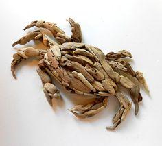 Driftwood sculpture Driftwood Crab Beach Decor by ForestMeetsSea