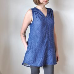 The Endless Summer Tunic Pattern - DOWNLOAD #fabric #pattern #sewing