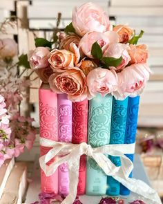 Canterbury classics flexibound box set of Jane Austen books with scrolled spines in pink, purple, red, green, teal and blue with pink spring garden roses Pastel Red, Pastel Colors, Red And Pink, Red Green, Pastels, Pink Purple, Teal, Canterbury Classics, Rainbow Photography