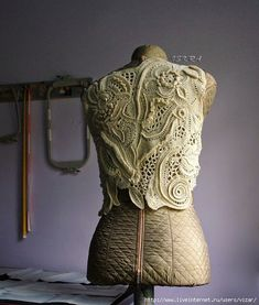Irish crochet &: Жакет фриформ от Искры