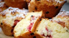 Strawberry passionfruit muffins
