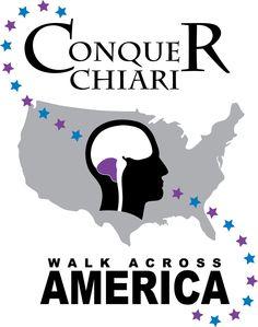 Conquer Chiari Walk Across America Logo