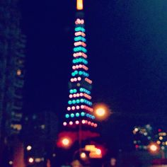 Colorful Tokyo tower, Dec2014