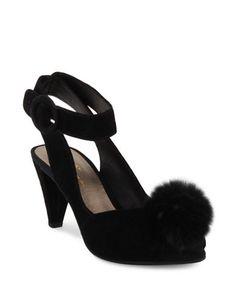 Shoes   Heels & Pumps    Seduce Fur Pom-Pom Leather Pumps   Hudson's Bay
