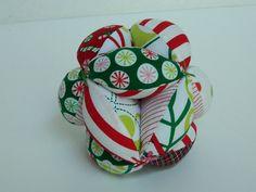 Fabric Toy Ball  Montessori Toy   Soft Baby Clutch  by lynnedowns