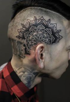 head tattoo for men