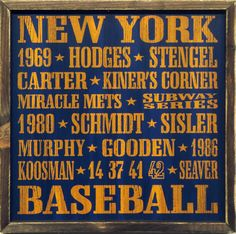 """Country Marketplace - Vintage New York #Mets Wood Sign 18"""" x 18""""(http://www.countrymarketplaces.com/vintage-new-york-mets-wood-sign-18-x-18/)"""