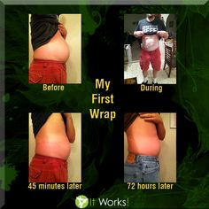 This thing is AMAZING! | These are my own personal results | weight loss body wrap | It Works!