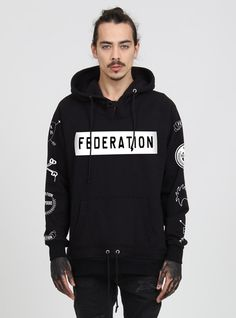 DARTH HOOD - STAMPED - BLACK – Federation Clothing +.