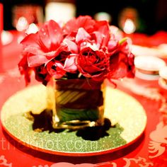Low Red Centerpieces