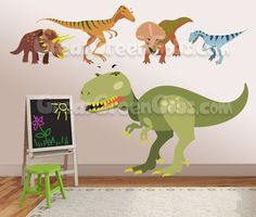 Perfect Dinosaur Wall Decals 5 Large Dinosaurs For Boys By Shapesalive, $115.00 Boys  Room Decor,