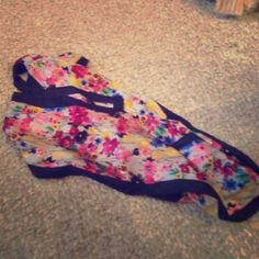 Silk Floral Scarf This flirty scarf has never been worn before and is dying to get out for the summer!! Thirty One Accessories Scarves & Wraps