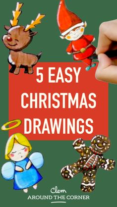 diy do it yourself tip beautiful christmas drawing doodles bujo bullet diary man gingerbread deer reindeer red nose christmas angel leprechaun of santa claus child drawing tutorial step by step tutori Beautiful Christmas Drawing, Easy Christmas Drawings, Christmas Doodles, Xmas Elf, Christmas Angels, Christmas Art, Christmas Ideas, Christmas Pictures, How To Draw Santa