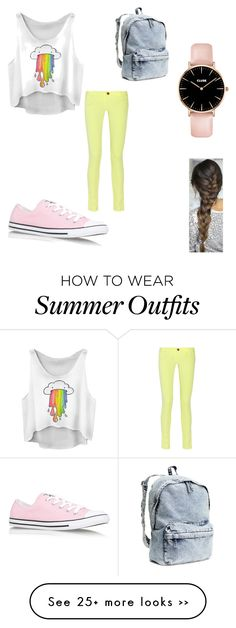 """""""summer outfit"""" by lojine-ahmad on Polyvore featuring M Missoni, Converse and H&M"""