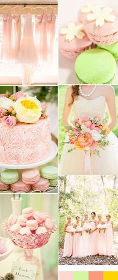 Bride to Be Reading ~ Romantic pink and green wedding color palette inspiration Pink Green Wedding, Pink Wedding Theme, Wedding Themes, Pink And Green, Dream Wedding, Wedding Ideas, Rose Wedding, Diy Wedding, Wedding Decor