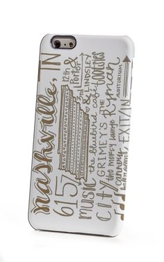 Nashville Hand-Lettered iPhone 6 Plus Case by shoppronetowander
