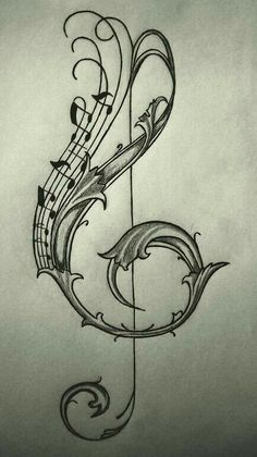 violin key drawing / sketch on We Heart It - Image of someone discovered. Discover (and save!) Your own pictures and videos on We Heart It - Key Drawings, Music Drawings, Pencil Art Drawings, Drawing Sketches, Drawing Tips, Drawing Ideas, Music Tattoos, Body Art Tattoos, Tatoos