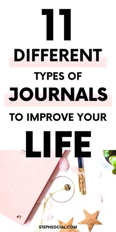 11 Types Of Journals For Personal Development - Steph Social Self Development, Personal Development, Types Of Journals, Get My Life Together, Journal Writing Prompts, Dealing With Difficult People, Diy Kit, Bullet Journal How To Start A, Coping With Stress