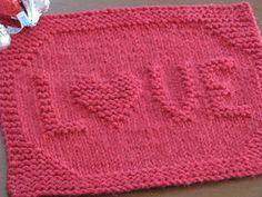 One Crafty Mama: LOVE Dishcloth