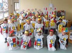 Carnival Crafts, Carnival Costumes, Halloween Costumes, School Carnival, Ecole Art, Piet Mondrian, Joan Miro, Preschool Art, Art Classroom