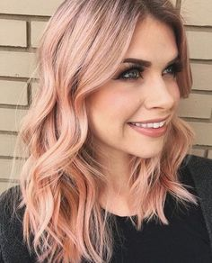 50 bold and subtle ways to wear pastel pink hair - Beliebt Frisuren - . 50 bold and subtl Blorange Hair, Rose Hair, Hair Day, New Hair, Pink Blonde Hair, Pastel Pink Hair, Rose Gold Blonde, Cheveux Oranges, Peach Hair Colors