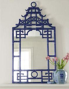 Navy Pagoda Mirror