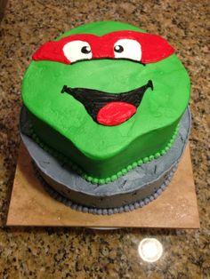 TMNT cake- all buttercream