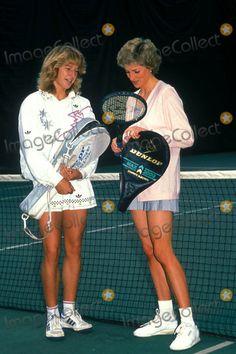 Stefi Graf and Princess Diana 06-10-1988 Credit: Alpha-Globe Photos, Inc.